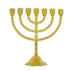 Messing Koper 13 Inch Vintage Menorah Houder Judaica Van Jeruzalem Gift
