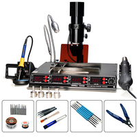 YIHUA 1000B 4 in 1Multi Function Infrared Bga Rework Station SMD Hot Air Gun+ 540W Preheating Station + 75W Soldering Irons