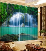 custom Waterfall forest curtains for bedroom living room high quality curtain Home Decoration blackout curtains(China)