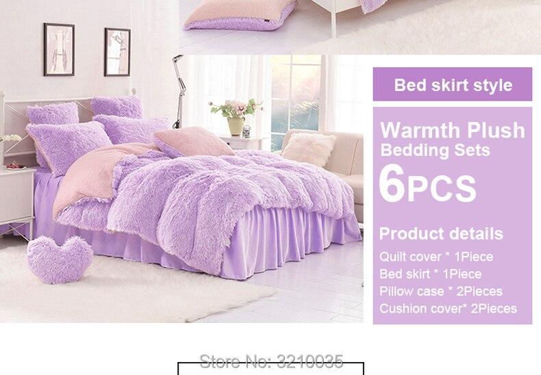 HTB13e4EmJrJ8KJjSspaq6xuKpXat - Velvet Mink or Flannel 6 Piece Bed Set, For 5 Bed Sizes, Many Colors, Quality Material