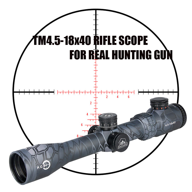 New Canislatrans Tactical Military TM4.5-18x40 Two Color Spotting Rifle Scope For CS Game Real Hunting Shooting CL1-0287 promiton new arrival tactical 3 9x50 rifle scope for hunting shooting cl1 0277
