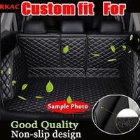 free shipping pu leather car floor mats for suzuki grand vitara suzuki vitara 2005 2015 car cargo mat cargo liner car trunk mat