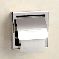Wall Mount Concealed Install Toilet Paper Holder Inside Wall Mounted Bathroom Roll Tissue Paper Rack Toilet