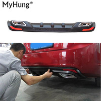 EMS Free Shipping Rear Bumper Protector Dual Diffuser Spoiler Special For 09 13 Chevrolet Cruze Sedan