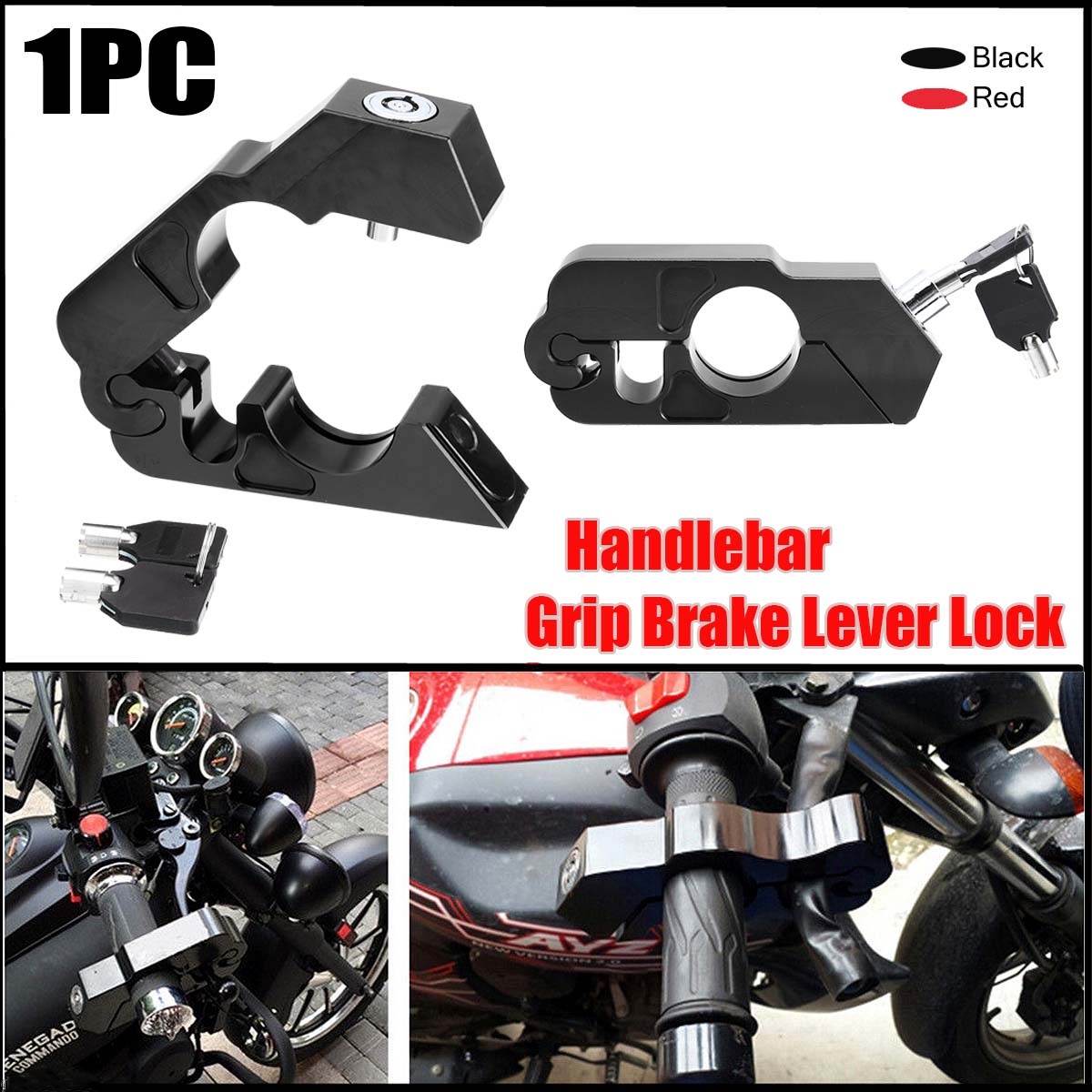 Motorcycle Handlebar Throttle Security Lock Motorcycle Brake Lever Accessories Anti Theft Protection Safety Lock