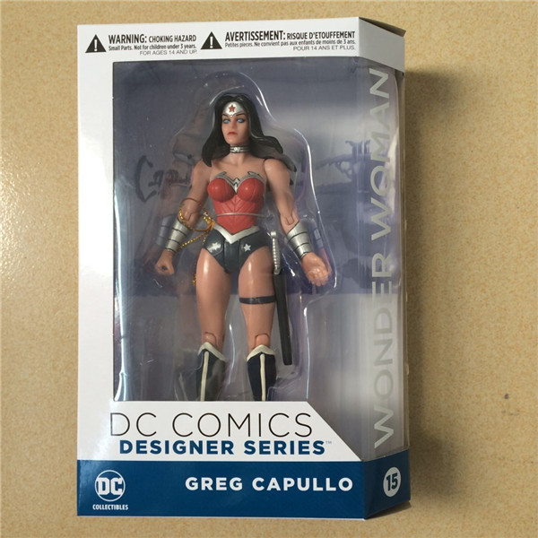 DC COMICS Designer Series DC Collectibles Wonder Woman by Greg Capullo PVC Action Figure Collectible Model Toy a toy a dream 10641 city series volcano exploration base geological prospecting building block bricks toys gift for children