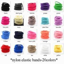 Высококачественные нейлоновые эластичные держатели, повязка на голову 30 см-большие резинки для волос для детей и взрослых, аксессуары для волос, галстук для волос