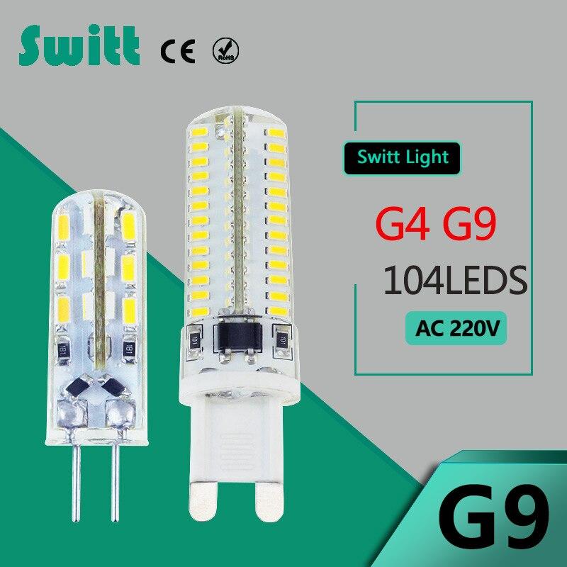 Switt LED g9 g4 led lamp 220v bulb 3W 4w 5W LED Corn Light Bulb Replace Halogen Lamp for candlelire spotlight g4 led bulb