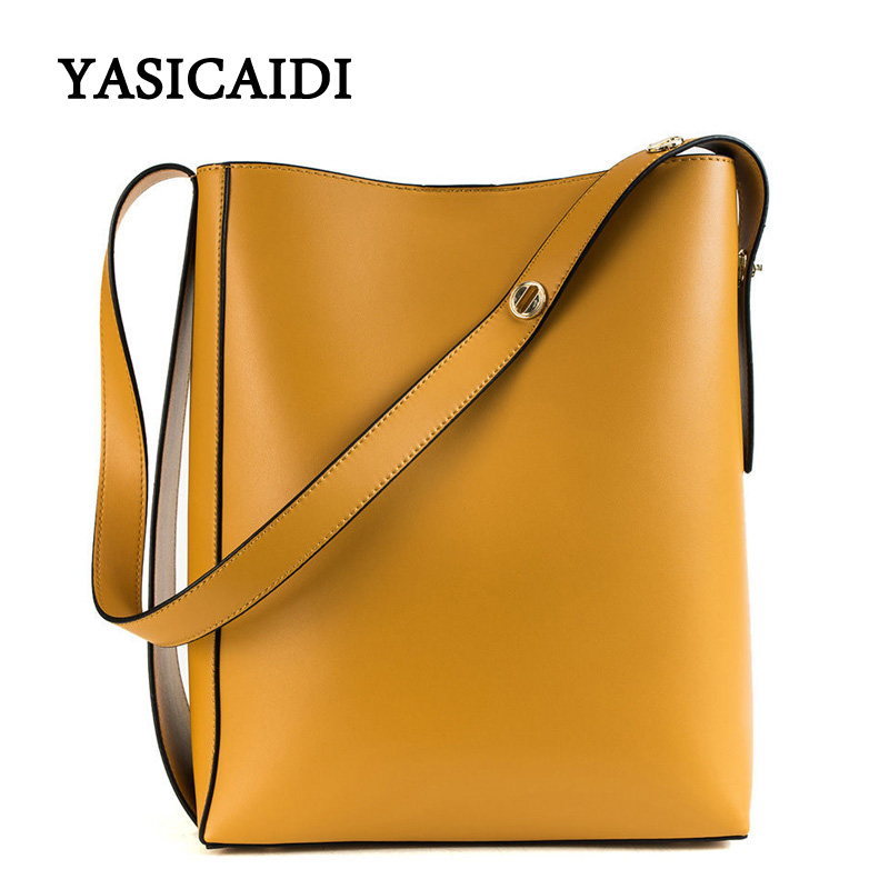 YASIACIADI Fashion 2 Pcs Set Buckets Handbags Large Women PU Leather Bags Ladies Bucket Bag Totes Shoulder Bags Messenger bag women bag fashion casual totes bag 2 sets for girls pu leather handbag designer women s shoulder messenger bags lady bucket bag