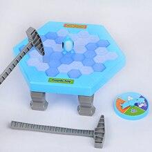 Мини-ловушка пингвина активировать забавную игру интерактивные изделия для крошения льда Настольный Пингвин ловушка развлекательная игрушка для детей игра для всей семьи