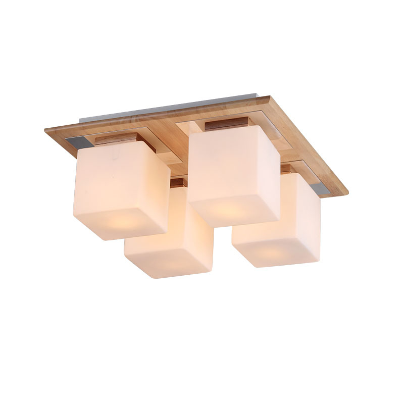 Japan Wooden Bedroom Ceiling Light White Square Glass Lampshade Living Room Ceiling Lamp Balcony Corridor Hallway ceiling lamps fumat modern minimalist bedroom ceiling light corridor balcony glass lampshade light kitchen round metal ceiling lamps