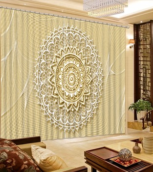 European Living Room Bedroom Curtains Photo pattern Luxury Window Curtains Office Hotel Home Wall Tapestry Custom Size