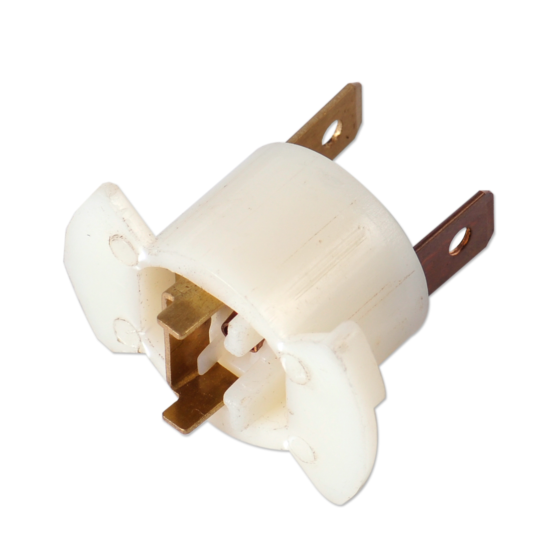 CITALL 1Pc White H1 Halogen Headlight Bulb Socket Holder