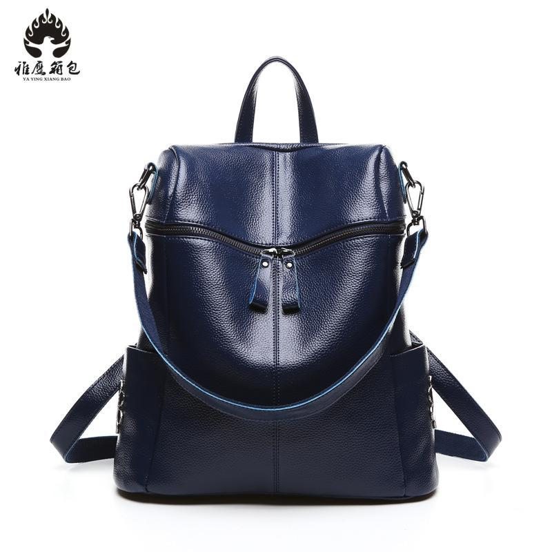 2018 Fashion Women Backpack High Quality Genuine Leather Backpacks For Teenage Girls Female School Shoulder Bag Bagpack Mochila vintage tassel women backpack nubuck pu leather backpacks for teenage girls female school shoulder bags bagpack mochila escolar