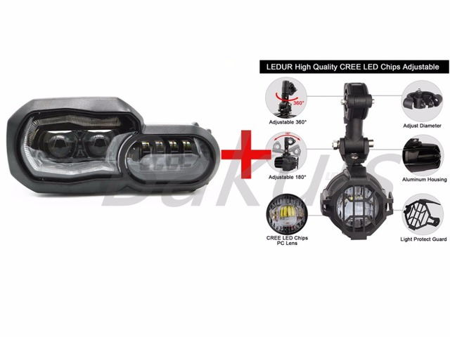 US $456.6 |For Bmw F700 Gs F650gs LED Fog Lamp & Protect Guards & Wiring on