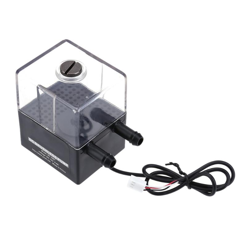 DC 12V Super Silent Water Circulation Pump Tank for PC CPU Liquid Cooling Water Cooling System mini water pump zx43a 1248 plumbing mattresses high temperature resistant silent brushless dc circulating water pump 12v 14 4w