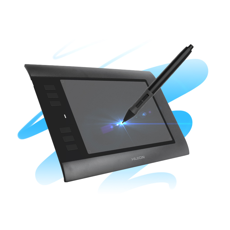 Huion H58L 8'' x 5 Digital Tablets Professional Graphic Drawing Pen Tablets Art Drawing Board With Express Keys Black and White huion h580 8 x 5 inch interactive digital graphic tablets professional signature tablet handwriting boards with functional keys