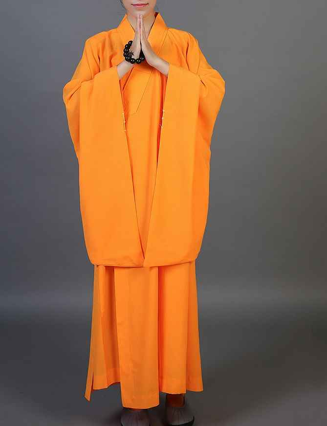 3 色ブラック/イエロー/コーヒー禅仏教服のガウン仏教コプソーンローブ少林寺カンフーはレイ瞑想制服ローブ
