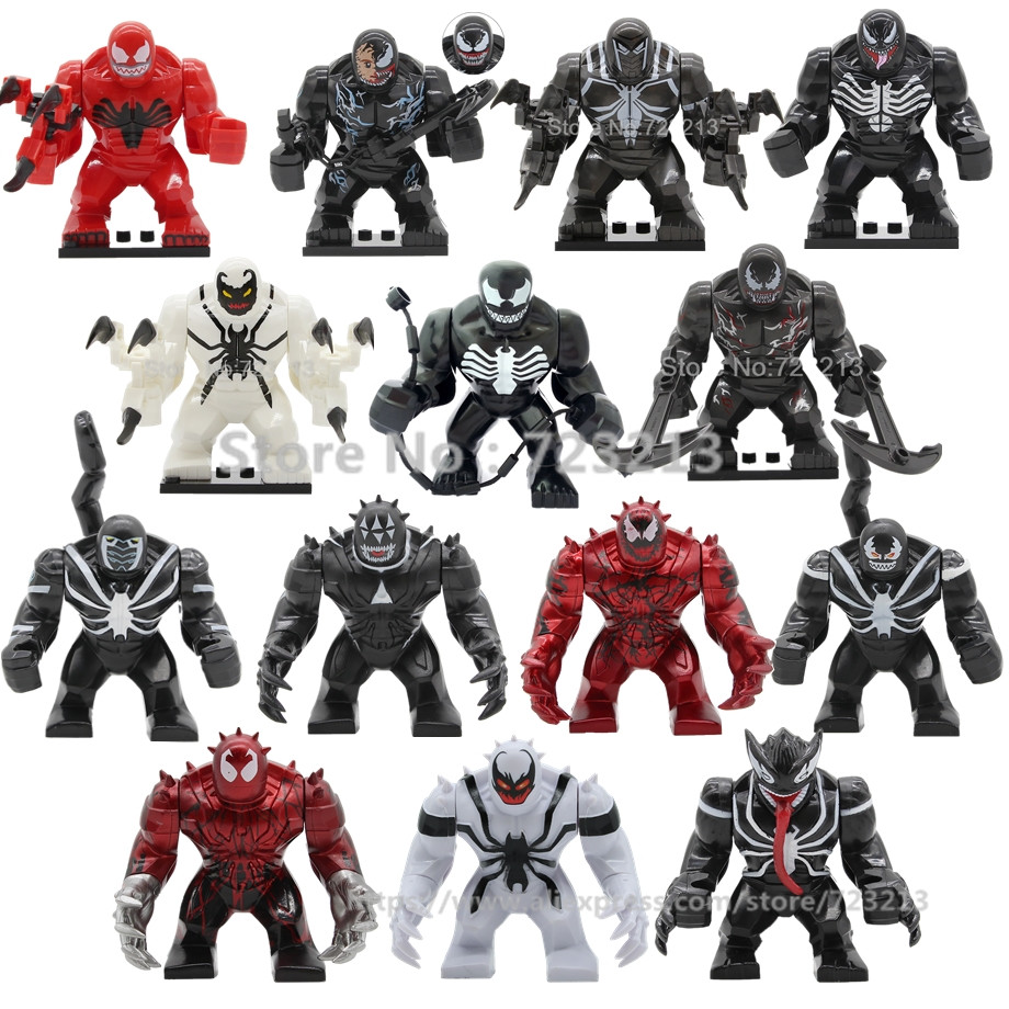 Single Sale Venom 7cm Anti-Venom Carnage Wolverine Marvel Super Hero Movie Building Blocks Brick Model Toys For Children Legoing