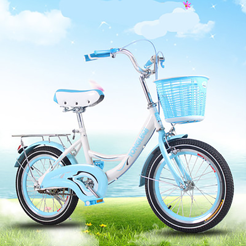 Children's Bicycle 20 Inches Princess Big Boy Primary School Student Basket Bike Boy Girl Baby Double Brake Leisure Commuter image