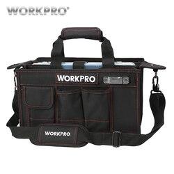 Bolsa de herramientas de hombro WORKPRO 600D con bandeja central Kits de herramientas impermeables bolsas bolsillos para bolsas eléctricas