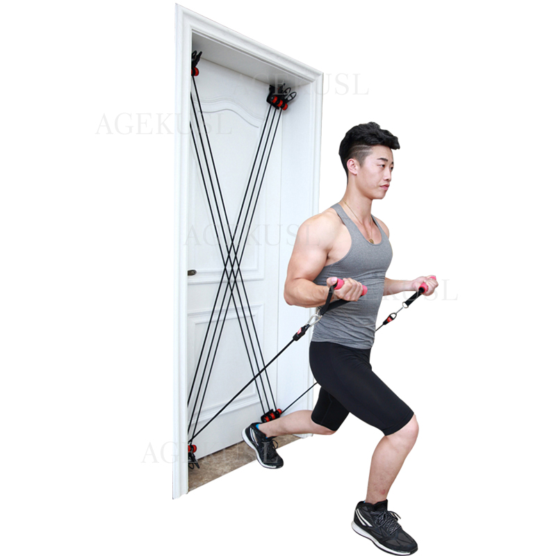 TWTOPSE 210 lbs Pulley Resistance Bands Training Fitness Yoga Tube Pull Rope Universal Door Exercise Tubes