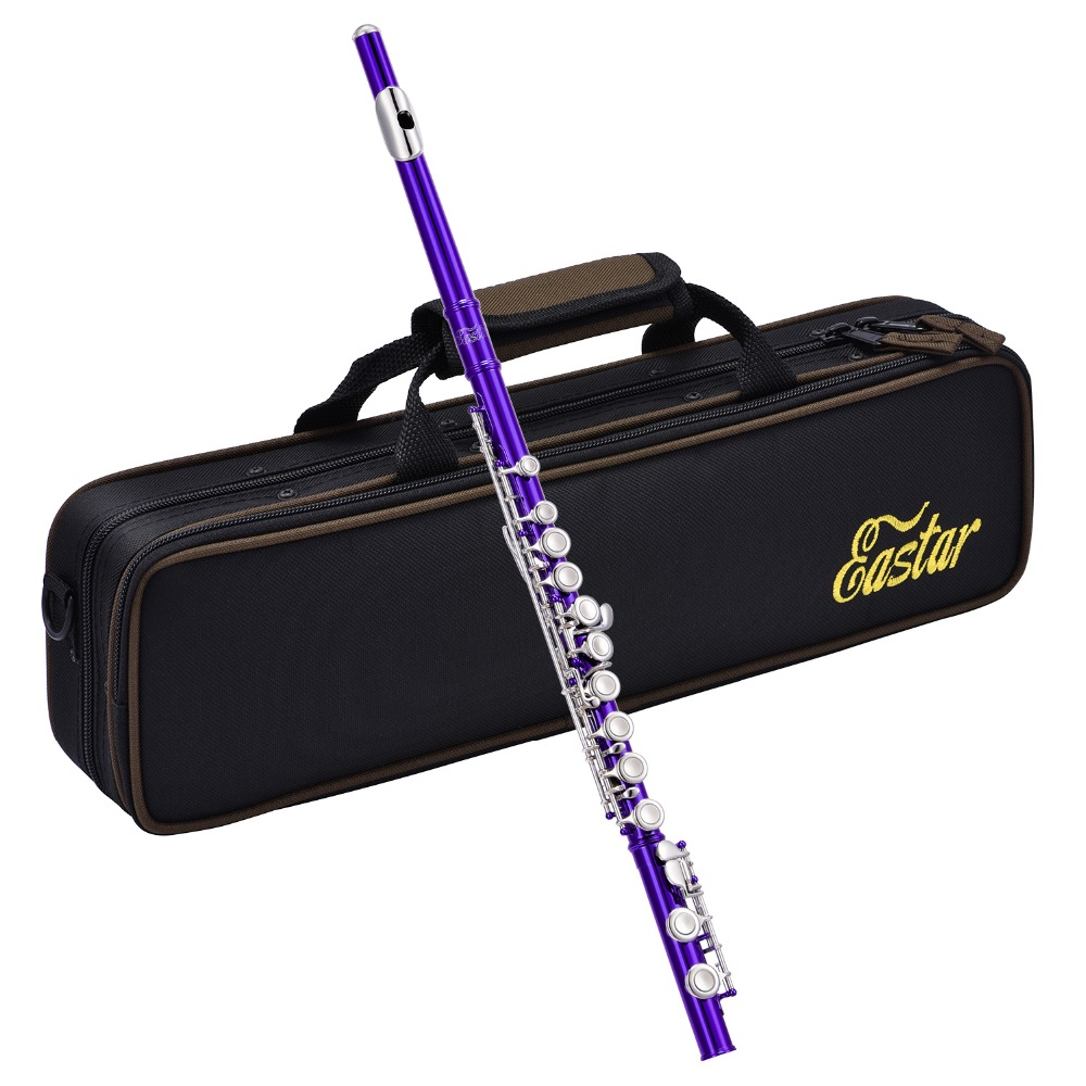 Eastar Close Hole 16 Keys Flute C Key Cupronickel Nickel Plated Woodwind Instrument + Flute Stand Padded Bag Cleaning Cloth NewEastar Close Hole 16 Keys Flute C Key Cupronickel Nickel Plated Woodwind Instrument + Flute Stand Padded Bag Cleaning Cloth New