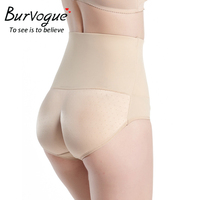 Burvogue Butt Enhancer Control Panties Sexy Butt Lift Shaper Hip Up Padded Lingerie Seamless Underwear Shaper