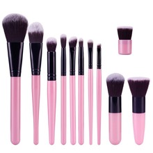 11pcs/set Cosmetic Eyeshadow Foundation Concealer Bamboo Handle Makeup Brushes Newest