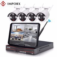 IMPORX 4CH 960P HDMI 5in1 NVR Kit 2TB HDD CCTV Wifi VideCam 1.3MP HD Night Vision With 10 LCD Security Camera System CCTV Kit