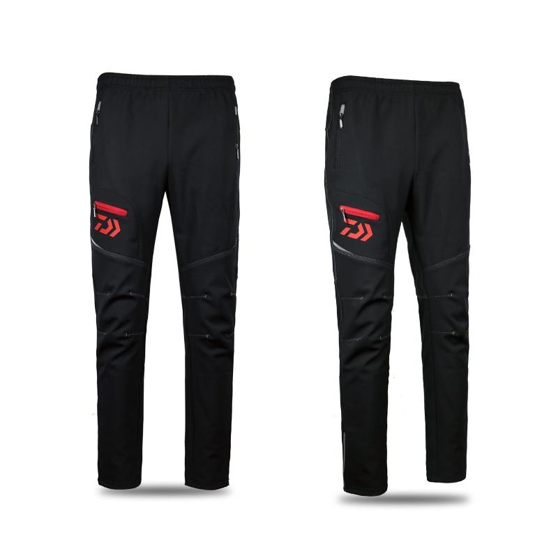 Hommes Daiwa imperméable vêtements de pêche résistant à l'usure chaud pantalon de pêche en plein air respirant coupe-vent pleine longueur pantalon