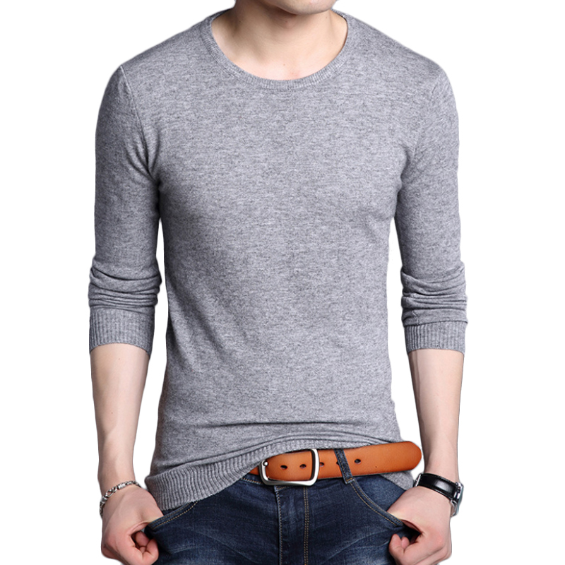 Winter Sweater Men Wool O-Neck Soft Warm Slim Fit Men Knitwear Mens Sweaters For Men Solid Color Knitted Sweater Men M-4XL