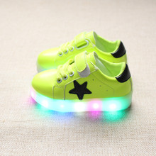 children shoes with light 2016 autumn baby boys girls LED light shoes chaussure enfant kids fashion breathable boys sneakers