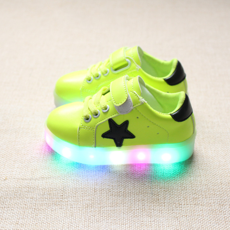 children shoes with light 2016 autumn baby boys led