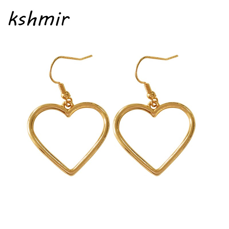 Kshmir 심장 - 모양의 펜던트 복숭아 심장 귀걸이 미니 멀리 즘 패션 귀걸이 여자를위한 여자 액세서리 귀걸이