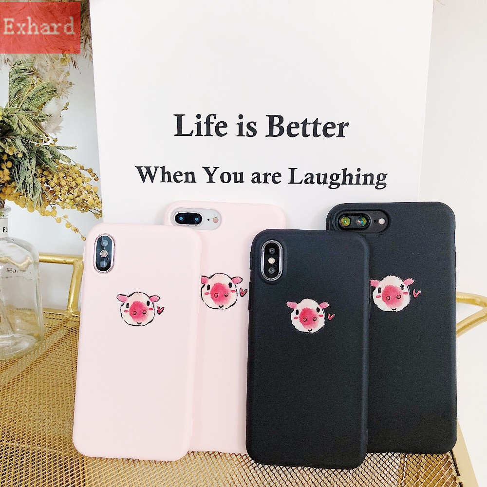 Us 2 62 25 Off Newest Cartoon Cute Wallpaper Pig Tpu Case For Iphone X 8 8 Plus 7 7 Plus 6 6s 6 Plus Case Back Cover Coque Fundas Capa In Fitted