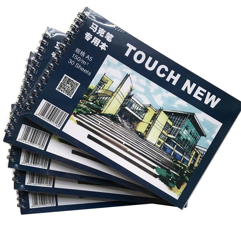 Folhas 30 A5 Aquarela Marcador de Papel Caderno de Desenho Caderno de Desenho Branco Pad Escola Papelaria Notepad Cuaderno Notitieboek