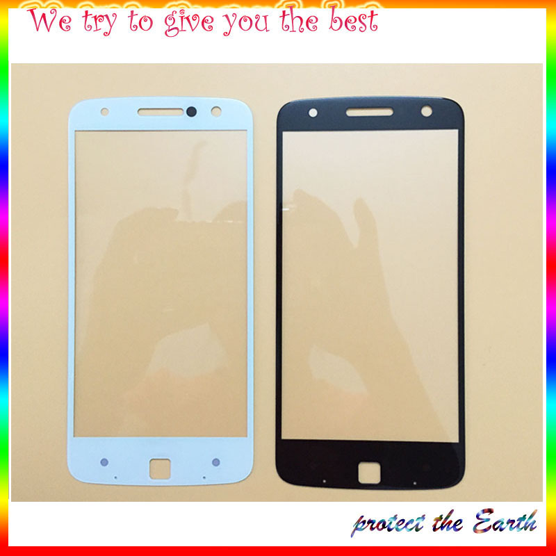 Original New Front Glass Lens outer Screen For Motorola Moto Z Droid XT1650 Mobile Phone Replacement image