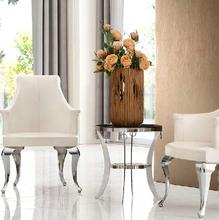 Leisure balcony small round table, small coffee table marble coffee table Stainless circular glass tables round a few