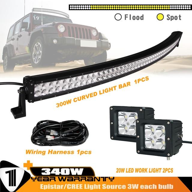 52inch 300w 18000lm curved led light bar 2pcs 20w 30 degree spot rh aliexpress com
