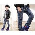 2017 Primavera Crianças Moda Jeans Meninos Calças Jeans de Lavagem de Luz Jeans Meninos para Meninos Casuais calças Cintura Elástica calças de Brim das Crianças P245