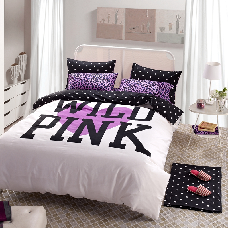 Compare prices on pink leopard bedding online shopping - Pink and purple comforter set ...