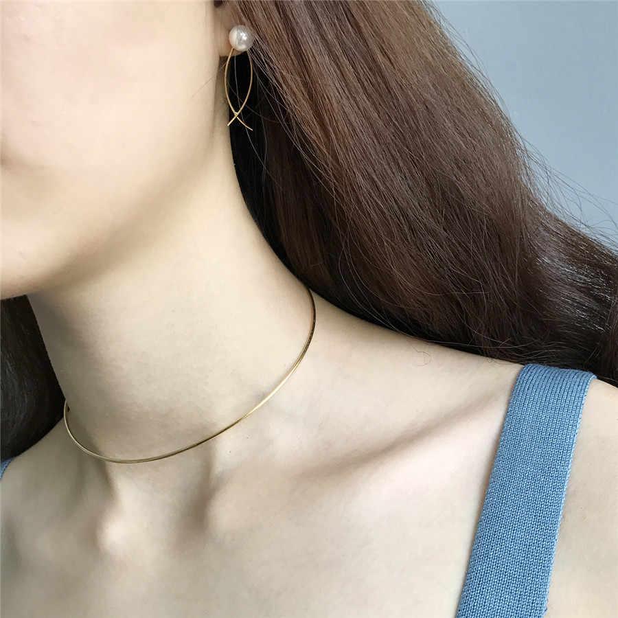 Martick Đơn Giản Phong Cách Vàng Màu Miếng Người Phụ Nữ Thời Trang Bất Động 925 Sterling Silver Nữ Trang Sức GSN27