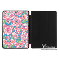 Lilli Pulitzer Pink Floral Girly Pretty Smart Cover Case For Apple IPad 2 3 4 Mini