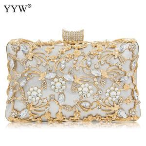 Image 3 - Women Rhinestone Clutch Bags gold purse Handbag Luxury Wedding Beaded elegant Crystal Evening Bag Diamond silver Shoulder Bags