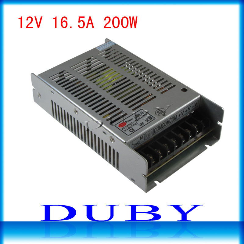 New model 12V 16.5A 200W Switching power supply Driver For LED Light Strip Display AC100-240V  Factory Supplier free shipping switching led power supply36v 120w ac100 240v to dc36v 3 3a driver adapter for led strips light cnc cctv wholesale free shipping
