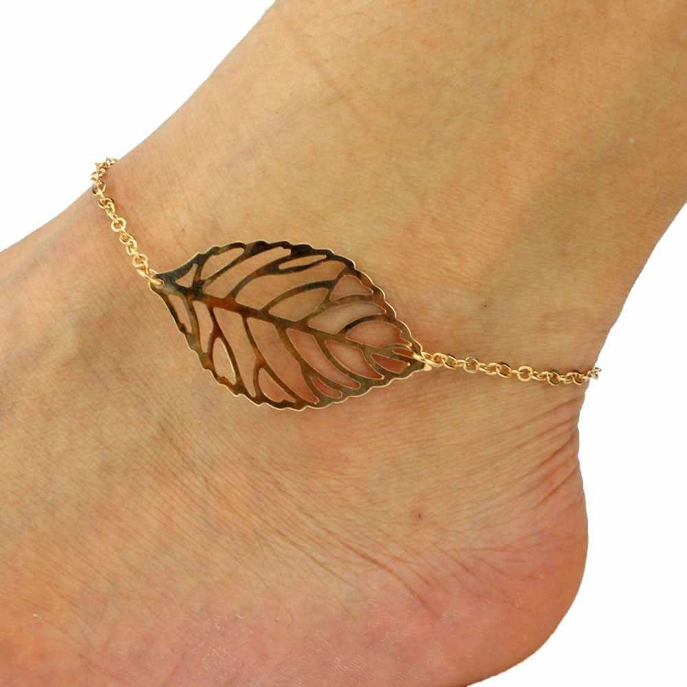 1 adet Moda Punk Metal Püskül Halhal Kadınlar Için Altın Gümüş Renk Ayakkabı Çizme Zinciri Bilezik Yalınayak Sandal Plaj ayak takısı