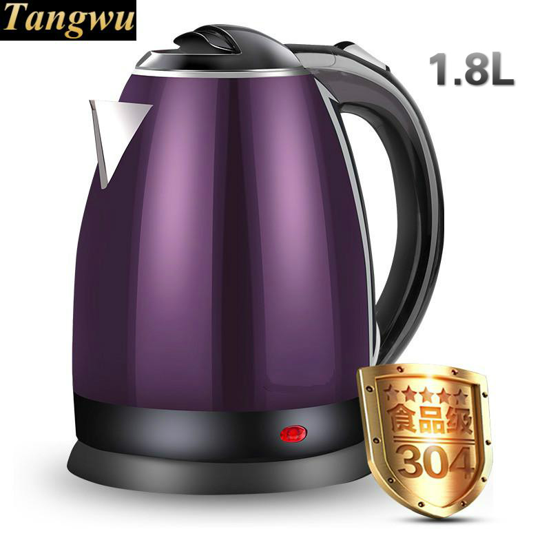 Double deck anti-burn boiler food grade 304 stainless steel electric kettle household Safety Auto-Off Function 220v household 1 2l electric kettle food grade 304 stainless steel inner anti scald material fast boiling eu au uk plug
