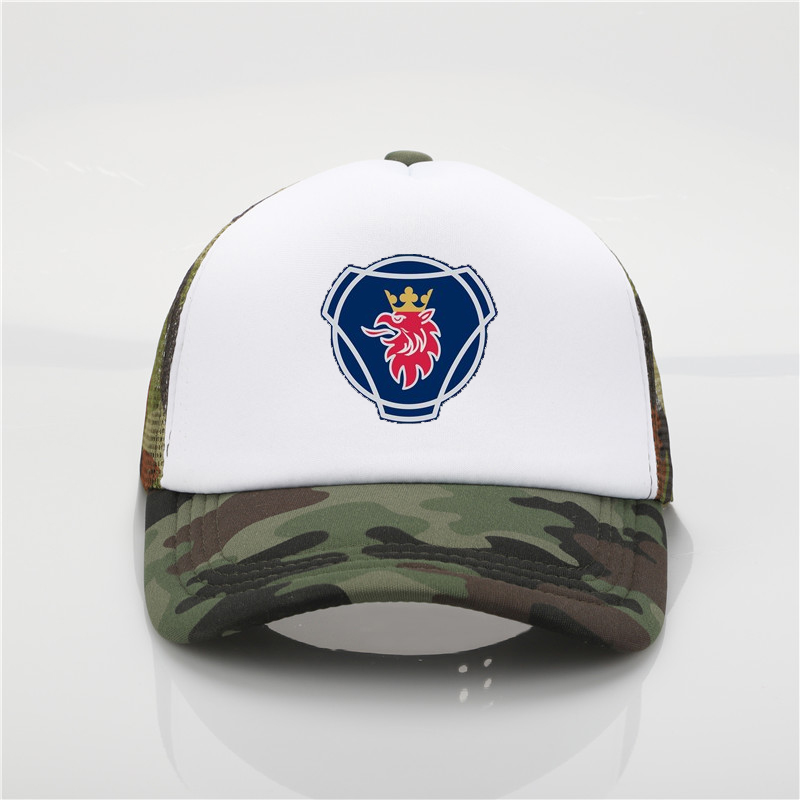 Scania printing net   cap   Truck driver hat   baseball     cap   Men and women Summer Trend   Cap   New Youth Joker sun hat Beach Visor hat