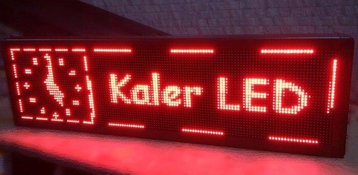 Texte en cours d'exécution défilement panneau d'affichage led rouge 32x128 point 41x137 cm led affichage pas de fond de panier aucun signe led intérieur étanche